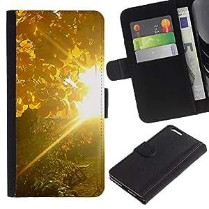 BearCase / Cuero de la tarjeta la carpeta del tirón Smartphone Slots Protección Holder /// Apple Iphone 6 PLUS 5.5 /// Sunset Beautiful Nature 83