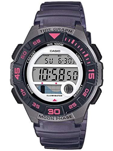 Casio Reloj Digital para Mujer de Cuarzo con Correa en Resina LWS-1100H-8AVEF