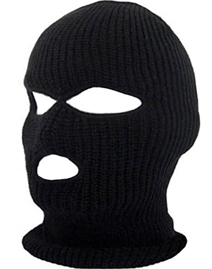 b77631021bbdf Knit Full Face Mask 3 Hole Ski Face Mask Balaclava for Cycling   Sports  Outdoor Face Cover (One Size