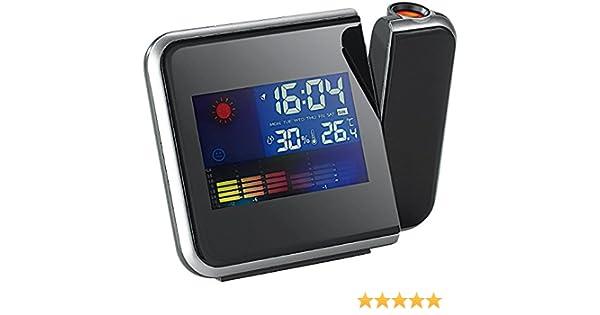 Reloj Despertador Digital CON TEMPERATURA y Proyector Modelo 8190 ...
