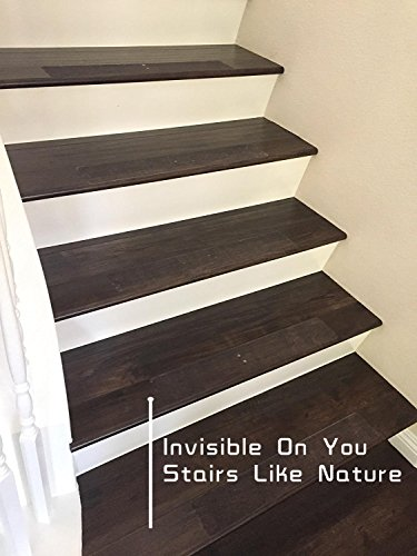 15-Pack(4''x 24''),Non-Slip Clear Adhesive Stair Treads,Translucent Safety Stair Traction Hardwood Treads,PVC-FREE Anti Slip Clear Adhesive Strips,Baby/Elder/Pet Safety,Indoor/Outdoor by Any Beauty (Image #6)