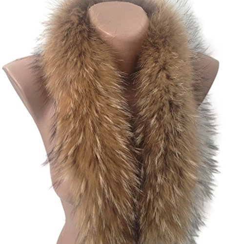 Scarf Fur edge fringe on the hood or collar Raccoon Trim from RizhikOva