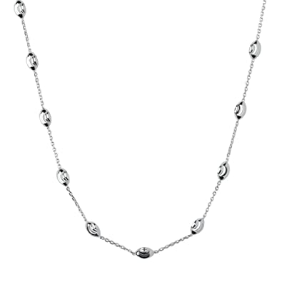 6682985571d4 Links of London Essentials Sterling Silver Beaded Necklace of Length  39-45cm  Amazon.co.uk  Jewellery