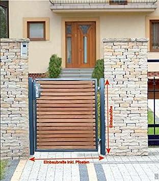 pforte Madera Puerta para jardín gris – Puerta Puerta Patios hoftor törchen 100 cm x 100 cm: Amazon.es: Bricolaje y herramientas