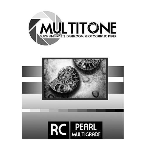 Inkpress MultiTone Black & White Resin Coated BW Pearl Luster Darkroom Photographic Paper, 8x10'', 25 Sheets