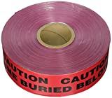 Panduit HTDU3R-E Underground Detectable''Tape Caution Electric Line Buried Below'', 3-Inch by 1000-Foot, Red