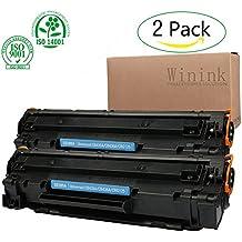 Winink Laserjet P1102w Toner Cartridge Black 2pack High yield compatible HP laser Jet replacement for HP Laser Jet pro P1100 1102 1104 1109 1102W 1104W 1109W