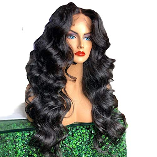 Women's Fashion Wig Long Curly Clip Hair Wave Black Synthetic Ponytails Cosplay (A) ()