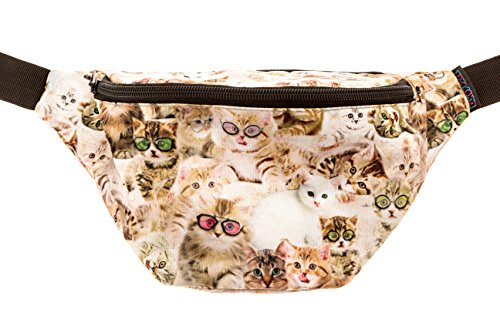 KANDYPACK Kittens Fanny Pack with Hidden Pocket Perfect for Raves and Festivals