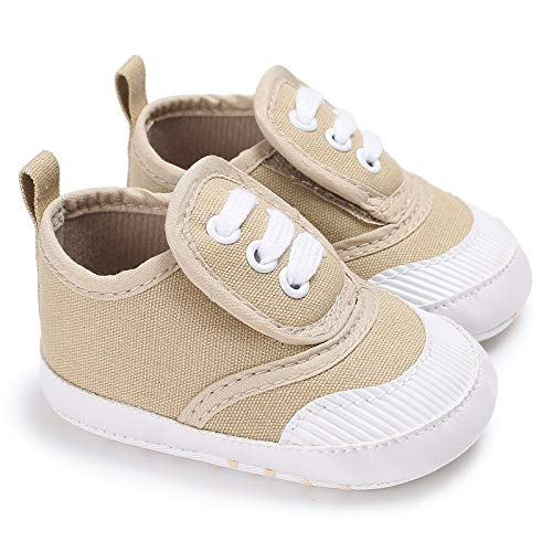 (Meckior Save Beautiful Toddler Baby Girls Boys Shoes Infant First Walkers Sneakers (0-6 Months, A-Khaki) )