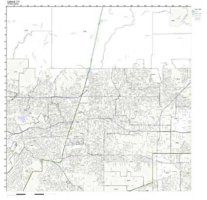 Upland Zip Code Map.Amazon Com Upland Ca Zip Code Map Laminated Home Kitchen