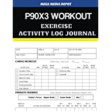 P90X3 WORKOUT Exercise Activity Log Journal