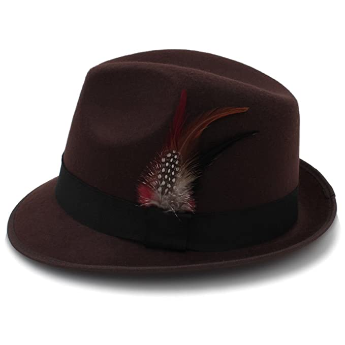 BB S Trilby Fedora Hat(Brown) at Amazon Men s Clothing store  d4191f8d807