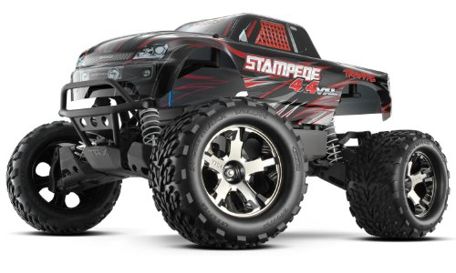 Traxxas 67086-4 Stampede 4X4 1 10 Monster Truck with TQi 2.4GHz Radio TSM - Black
