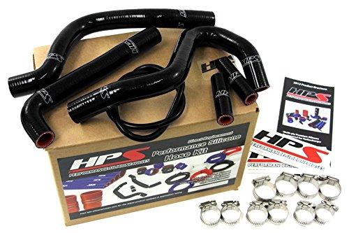 HPS 57-1247-BLK Black Silicone Radiator Coolant Hose Kit