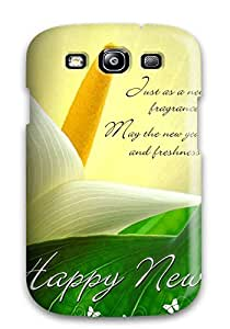 Awesome Happy New Year Wishes Flip Case With Fashion Design For Galaxy S3