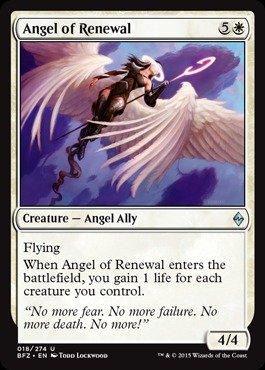 Magic: the Gathering - Angel of Renewal (018/274) - Battle for Zendikar