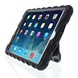 ipad mini gumdrop case - Apple iPad mini iPad mini Retina iPad mini 3 Hideaway with Stand Black Gumdrop Cases Silicone Rugged Shock Absorbing Protective Dual Layer Cover Case