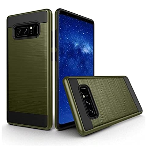 For Samsung Galaxy Note 8, Iusun Ultra Slim Tough Armor Case Protective Shell Cover For Samsung Galaxy Note 8 (Army Green, Samsung Galaxy Note (Iphone4 Tough Cases)