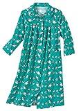 AmeriMark Cotton Flannel Duster Robe Petite Jade