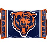 Set of Two NFL Chicago Bears Reversible Pillowcases Football Team Logo Bedding Accessories