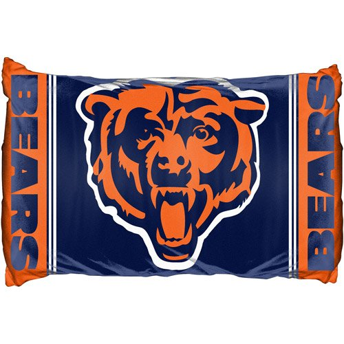 NFL Set of Two Chicago Bears Reversible Pillowcases Football Team Logo Bedding Accessories by Northwest