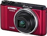 CASIO Digital Camera EXILIM ZR1000 Red EX-ZR1000RD - International Version (No Warranty)