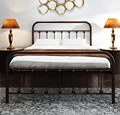 Size:Full  Color:Antique Brown ☆ The hot spots of this metal bed are its simple design and classical lines .It is designed to fit your bedroom and provide a fun place to sleep for both older and younger kids. ☆ Classical design will bring...