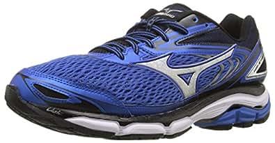 Mizuno Men's Wave Inspire 13 Running Shoe, Strong Blue/Silver, 7 D US