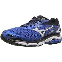 Mizuno Mens Wave Inspire 13 Running Shoes (Blue/Black)