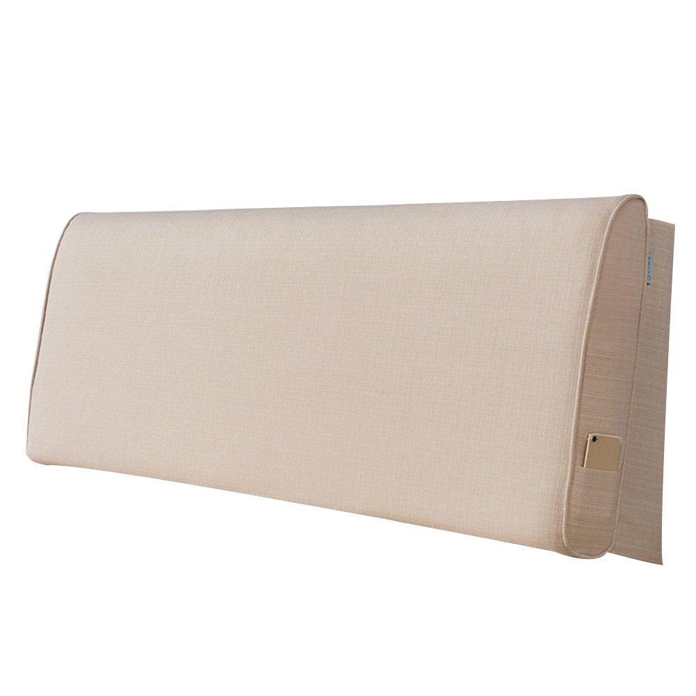 PENGFEI ベッドサイドソフトパック ダブル 大きな背中の枕 綿織物 枕カバーを清掃することができます 2仕様、 5色、 4サイズ (色 : 2#with Headboard, サイズ さいず : 120x60x10CM) B07F3WXJ7N 120x60x10CM|2#with Headboard 2#with Headboard 120x60x10CM