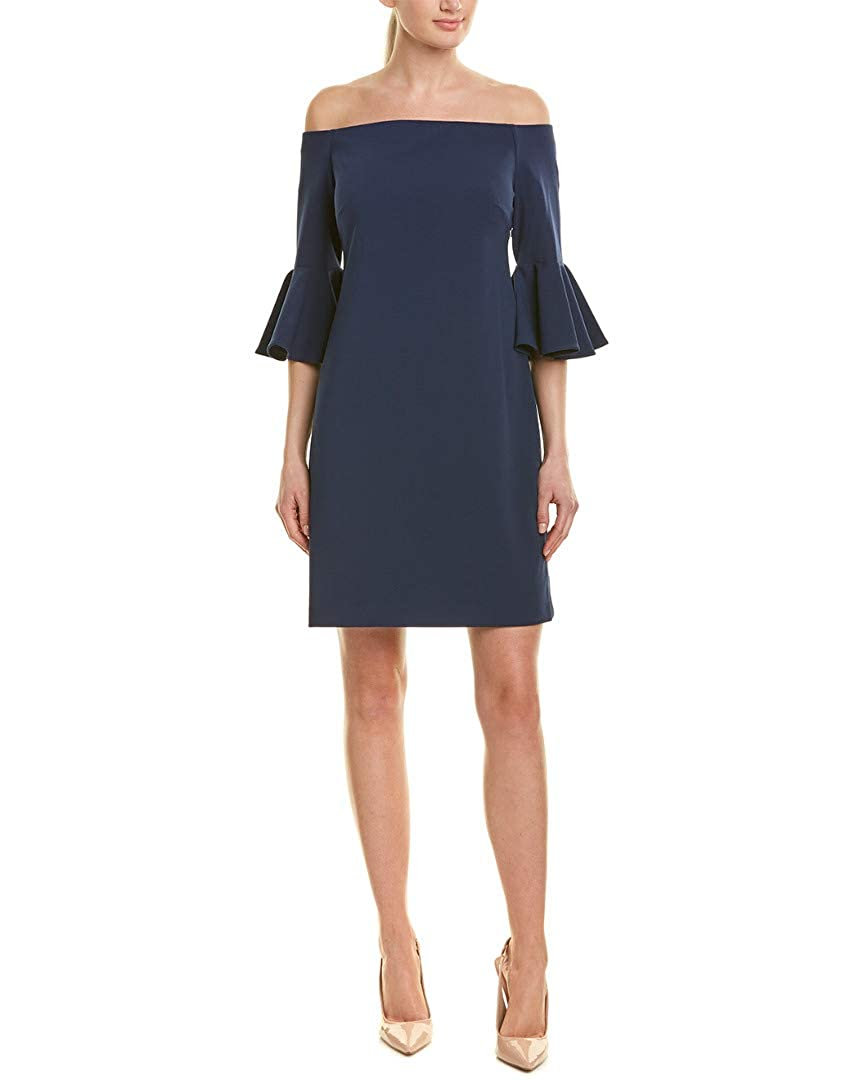 733dd9d40f VINCE CAMUTO Women s Bell Sleeve Off The Shoulder Crepe Ponte Dress at  Amazon Women s Clothing store