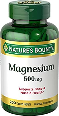 Natures Bounty Magnesium Oxide High Potency 500 mg