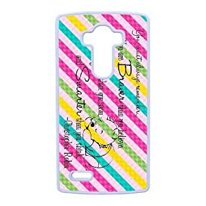 Protection Cover LG G4 Cell Phone Case White Winnie the Pooh Quotes Fuaon Durable Rubber Cases