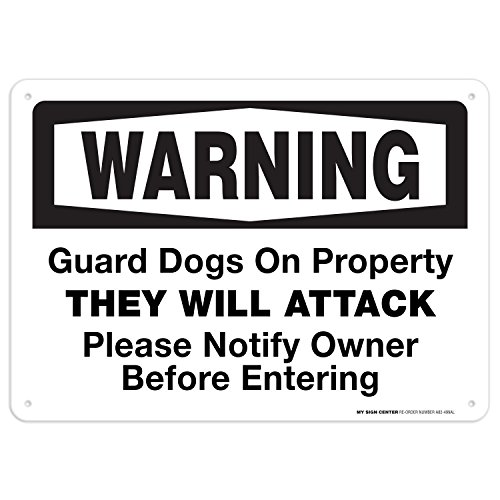 Warning Guard Dogs On Property Sign - 10