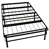 ViscoLogic Brands Platform Heavy Duty Metal Bed Frame/Mattress Foundation, BEDFR39(Twin)