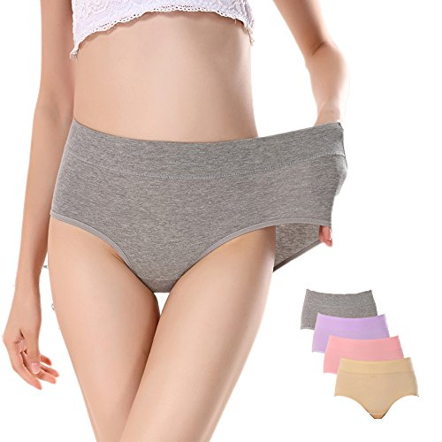 Opiboo Lady Cotton Soft Panties Stretch Comfortable Underwear Breathable Waist Big Girl Briefs For Women