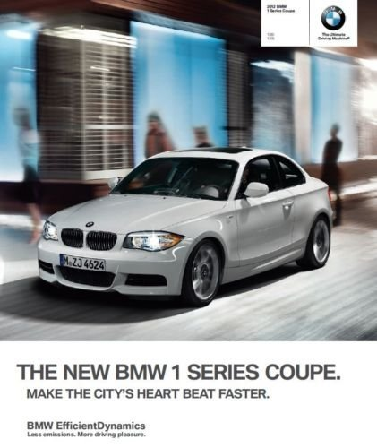 2012 BMW 128i 135i Coupe 68-page Original Sales Brochure Catalog - (128i Coupe)