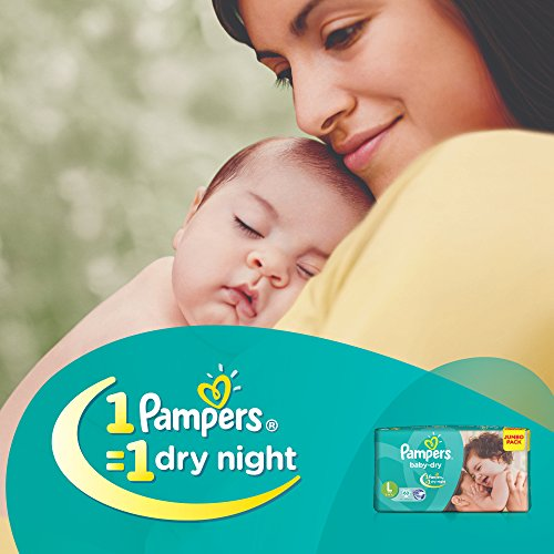 Pampers Baby Dry Diapers, Large (60 Count)