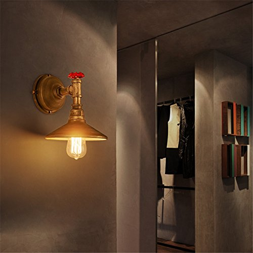 CGHYY Industrial Wall Light Shade Vintage Style Ideas, The Iron Wall Lamp Waterproof Security Lamp Outdoor Wall Light for Patio, Deck, Garden, Garage,Wall,