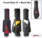 A99 Golf Travel Mate III with SKIN CarryOn Cover With TSA Lock (Black/Grey)