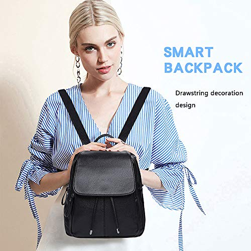 Zaino Moda Con Casual Cuffie Femminile Piccolo Viaggio Borsa Per Backpack Bocca Da Leggera Marea fwYFfq