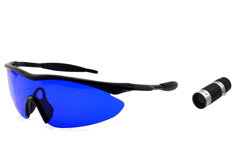 POSMA SGG-010B Golf Ball Finder Hunter Retriever Glasses + Bundle set Golf Rangefinder High Definition Mini Monocular Pocket Scope
