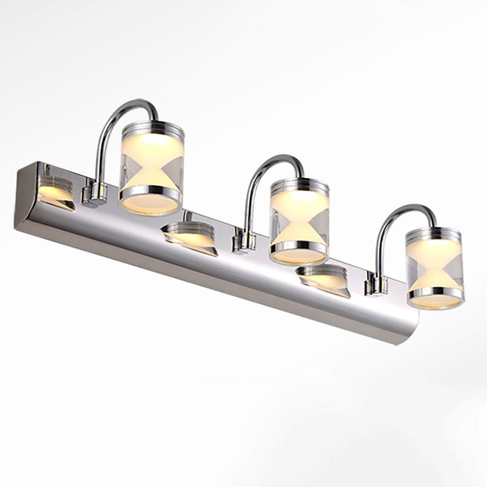 XRXY LEDモダンステンレススチールミラーフロントライトバスルームミラーキャビネットライトウォールランプメイクライト防水ミラーランプ ( 色 : 暖かい光 , サイズ さいず : 46センチメートル 46せんちめ゜とる ) B07C3T2988 12082 46センチメートル 46せんちめ゜とる 暖かい光 暖かい光 46センチメートル 46せんちめ゜とる