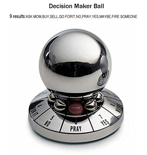 Fashionclubs Decision Maker Metal Ball,Prophecy Fate Decision Ball,Office Finger Spinner Anti-Stress Decompression Toy Ball Destop Decoration,Birthday Gift,Random Color