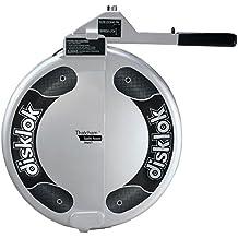 Disklok Security Device - Steering Wheel Lock - Full Cover - Silver - Thatcham Approved (Medium, 15.4in - 16.3in)