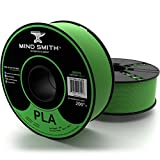 3D Printer Filament - Green PLA 1.75 mm 2.2 lbs (1 kg) Spool by MINDSMITH - PREMIUM Quality | Dimensional Accuracy +/- 0.03 mm