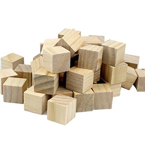 flyco tm 100pcs 1 inch wood floor cubes natural unfinished craft wood blocks 1 inch bag. Black Bedroom Furniture Sets. Home Design Ideas