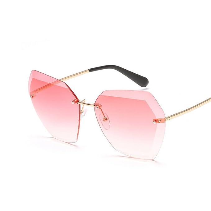 Shop für echte neue Stile bestbewertet Westeng Damen Sonnenbrillen Cut-Edge Brille Randlose ...