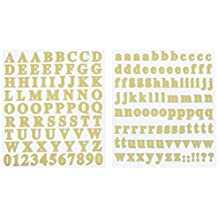 Homeford FMC000SS464A Mini Alphabet Foil Stickers, 179 Pack, Gold